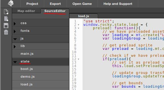 Source editor